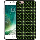 Mupoo iPhone 6 Case, iPhone 6S Case, Popular 3D Cubic Lattice Design Slim Soft Flexible TPU and Hard PC Shockproof Anti-Slip Durable Protective Cover for Apple iPhone 6/6S 4.7 inch (Black + Green)