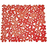 InterDesign Blumz  Kitchen Sink Protector Mat, Red