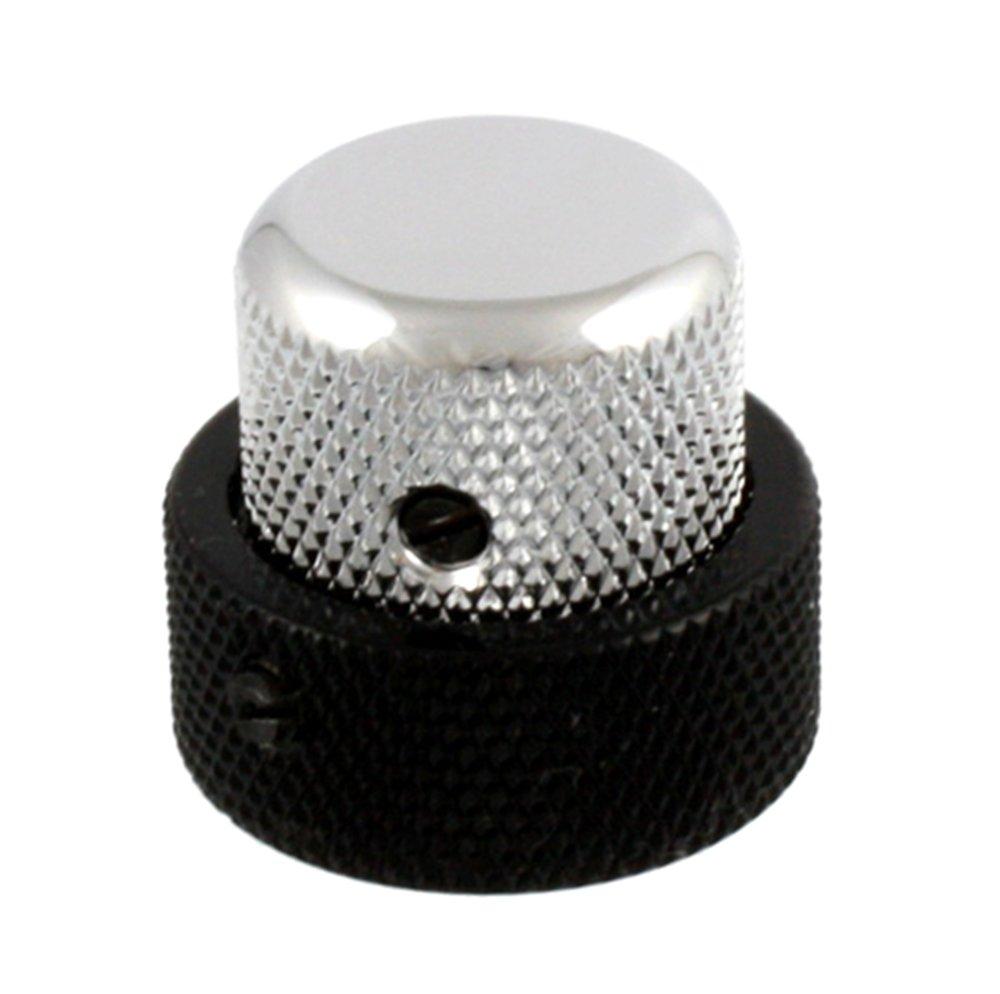Allparts MK-3338-000 Black and Chrome Concentric Knob