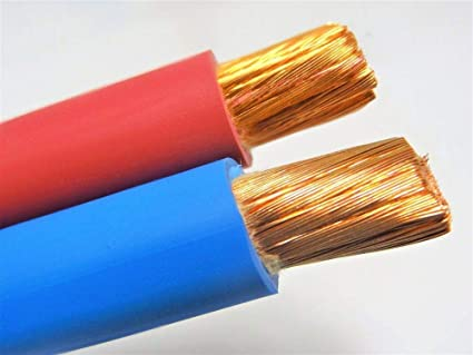 10/' EXCELENE 1//0 AWG WELDING//BATTERY CABLE RED 600V MADE IN USA EPDM COPPER