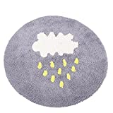 HOMEE Round cotton carpet child crawling mat bedroom computer chair floor mats water absorption non-slip mat,1-120Cm