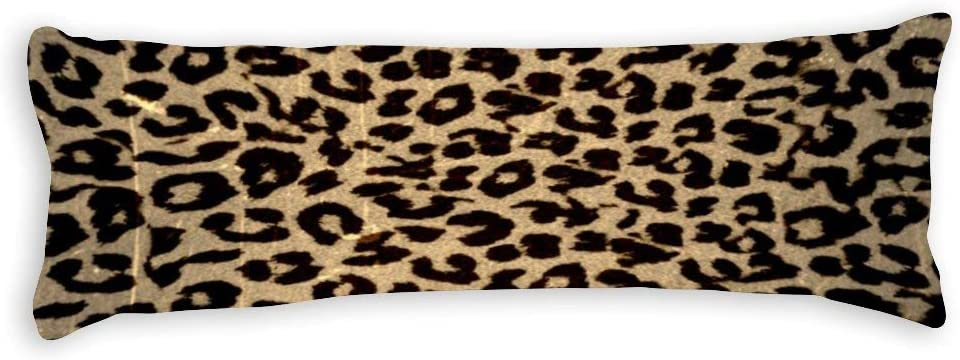 Tamengi Body Pillowcase, Vintage Leopard Print Skin Fur Extra Long Body Pillow Covers Cases 20