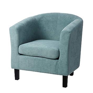 Butaca tapizada de Madera Azul clásica para salón Iris ...