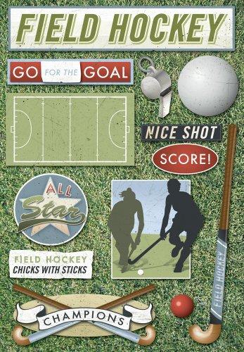 Single Page Scrapbook Layout - Karen Foster Design Acid and Lignin Free Scrapbooking Sticker Sheet, Field Hockey