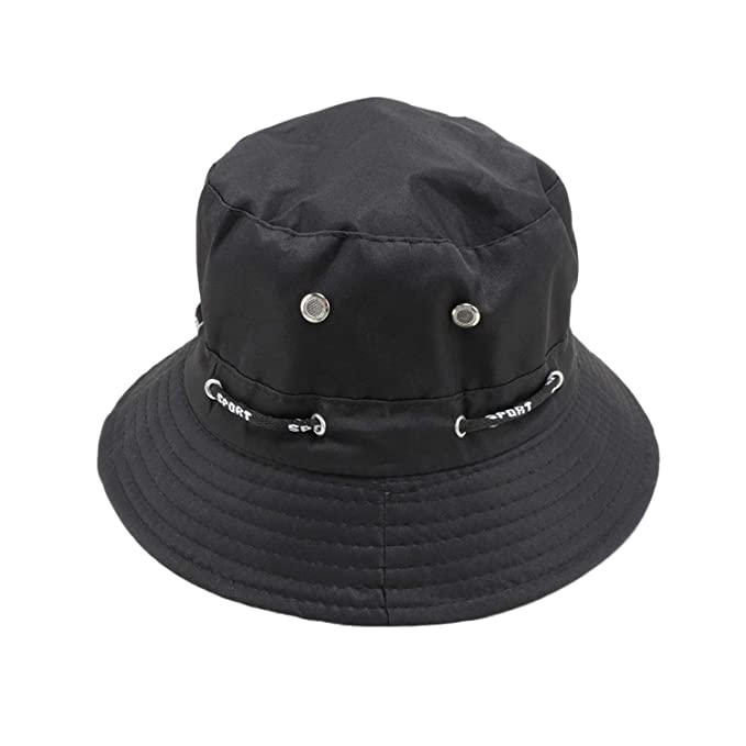 b5d3ee25f92 Amazon.com  Unisex Cotton Bucket Hat Wide Brim Fisherman Cap Hunting  Fishing Outdoor Cap Men s Women s Summer Sun Hat  Clothing
