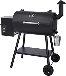 Z GRILLS ZPG-5502H 8 in 1 Wood Pellet Portable Grill Smoker for Outdoor BBQ Cooking with Digital Temperature Control and Storage Shelf, 538 Sq In