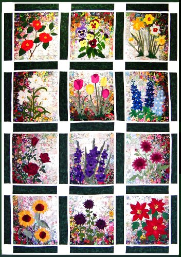 - Whims Watercolor Quilt Kits Rachel's Flower Garden Quilting Supplies