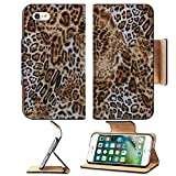 Luxlady Premium Apple iPhone 7 Flip Pu Leather Wallet Case IMAGE ID: 40222526 animal print skin pattern seamless fabric