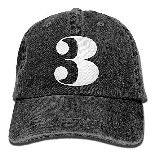 Number 3 Caps Unsex 100% Cotton Low Profile Adjustable Plain Flat Baseball Cap Sun Outdoor Sport Cowboy Snapback Custom Hat](Number One Grandpa Hat)