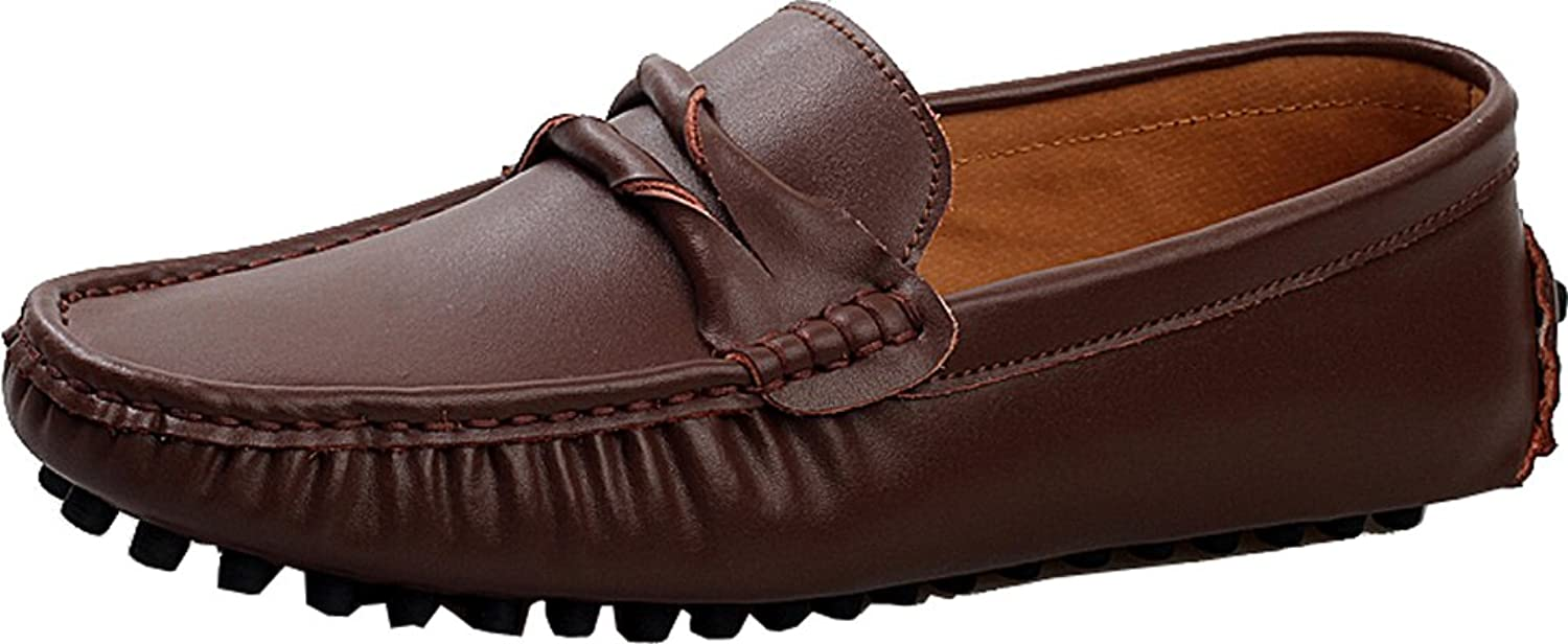 Abby Mens QZ-508 Fashion Comfort Cozy Cosiness Message Driving Flat Leather Doug Shoes