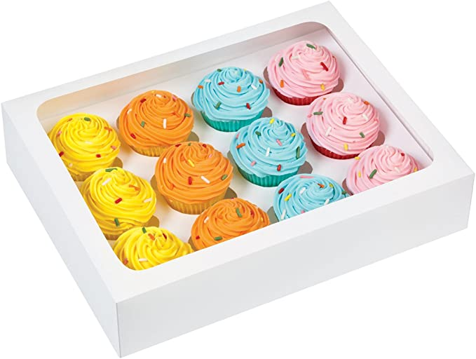 Mini Cupcake Boxes 12 Inserts X3 PACK Wilton CUPCAKE SWEET MAKING Free Postage