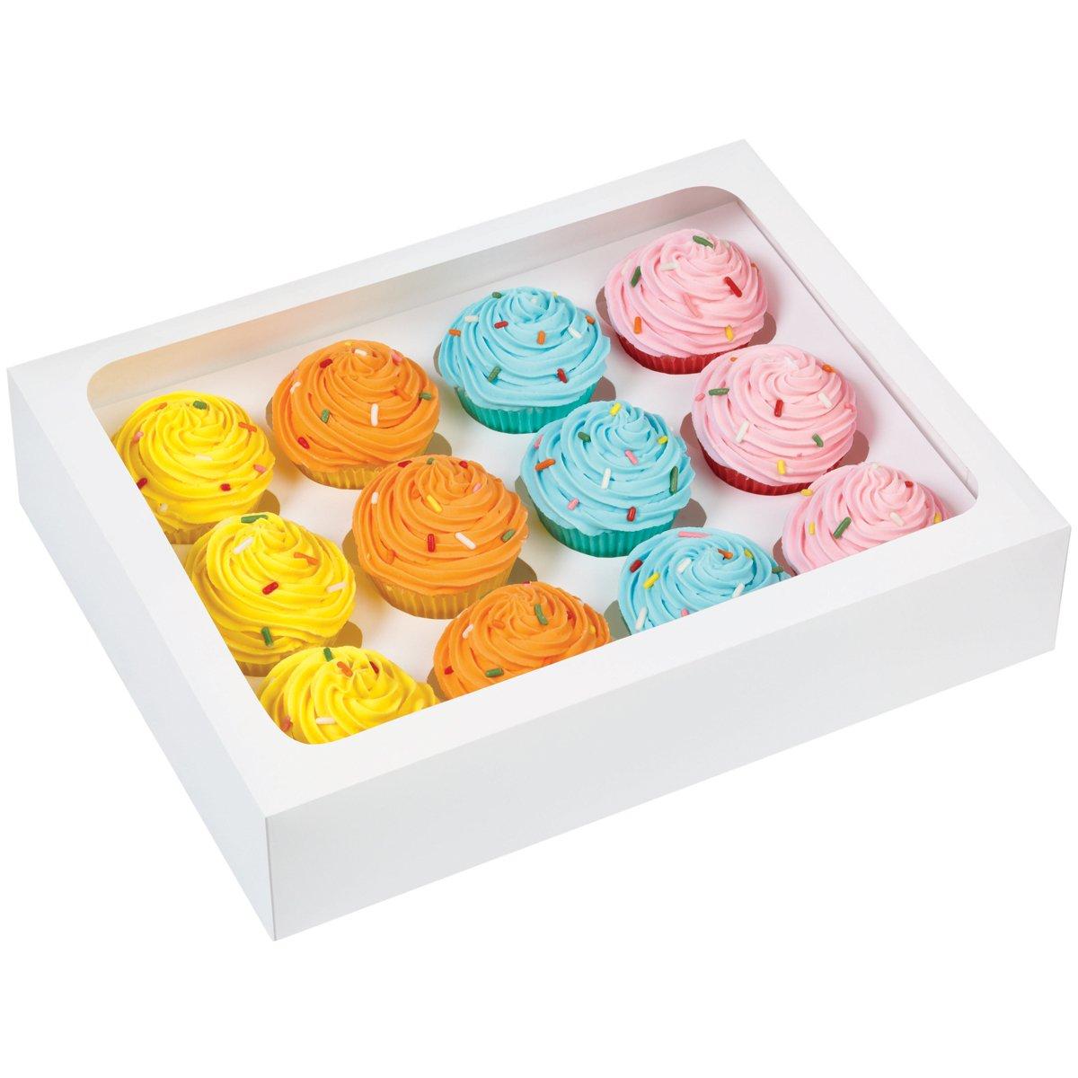 Wilton 415-1696 12-Cavity Cupcake Box, Mini White by Wilton (Image #1)