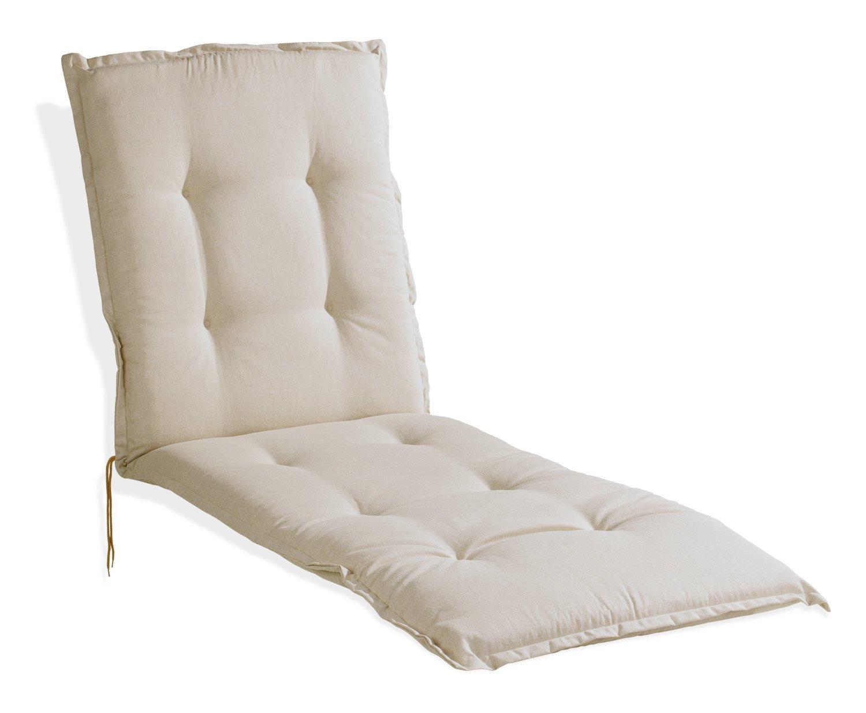 Liegenauflage Auflage Polster DABUR 4   B 60 60 60 cm x L 190 cm   Natur   Polyester   Baumwolle 38dde5