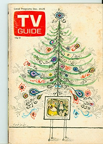 1972 TV Guide Dec 23 Christmas - Missouri Edition NO MAILING LABEL Very Good (3 out of 10) Well Used by Mickeys...