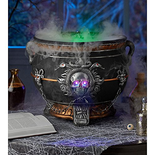 Halloween Witch's Cauldron with Rolling Smoke Effect-Bubbles and Steams