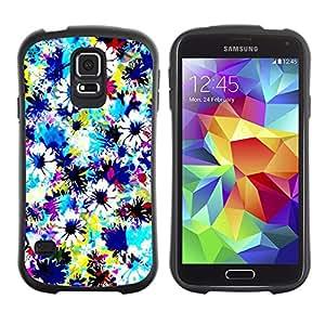 LASTONE PHONE CASE / Suave Silicona Caso Carcasa de Caucho Funda para Samsung Galaxy S5 SM-G900 / Fabric Field Sky Painting