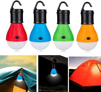 3W Outdoor Hanging LED Camping Lamp Tent Night Light Bulb Battery Powered SOS