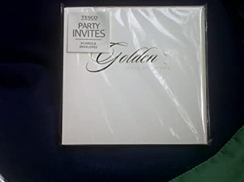 24 Golden 50th Wedding Anniversary Invitations Amazon Co Uk