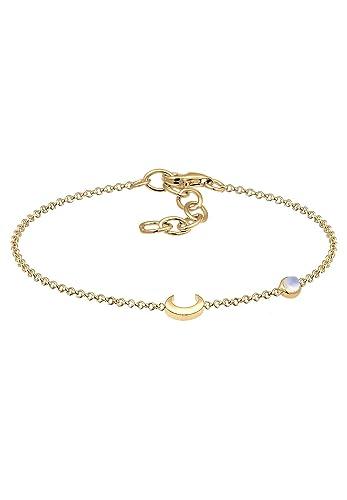 2ec8db4f8b5c Elli (ELJW5) Damen-Kettenarmband 925 Sterling Silber Mondstein 0208510317 16