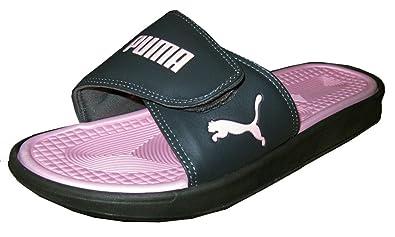 c439524fafee Puma Womens Athletic Sport Slides Sandals Flip Flop Thongs Black Light Pink  Us 7 UK 5