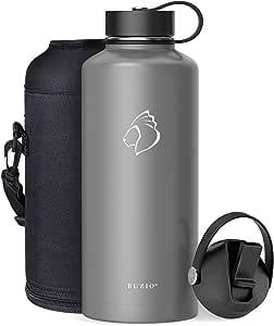 BUZIO Water Bottle Graphite 87 oz