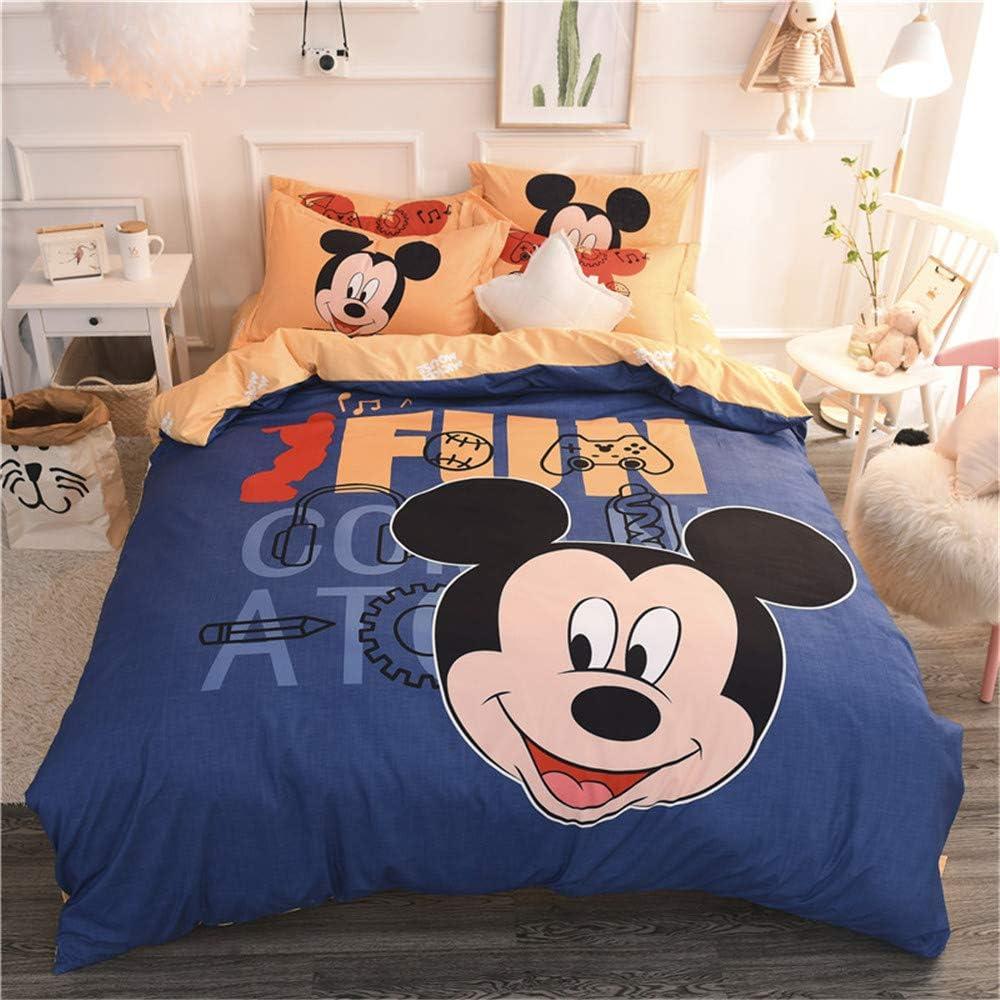 NSD Preppy Blue Grey Lowest price challenge Mickey latest Mouse Cartoon Bedding Girls Boys Set