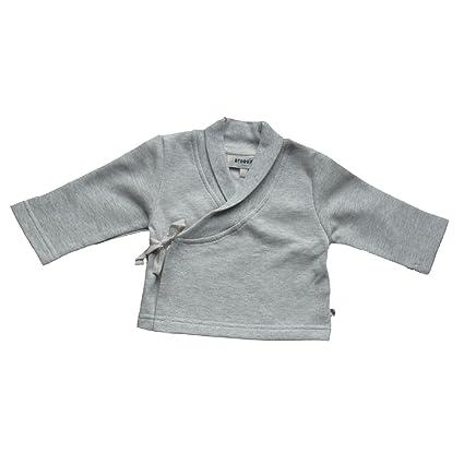 bebobio – Chaqueta Kimono de bebé (algodón ecológico), color gris jaspeado gris gris