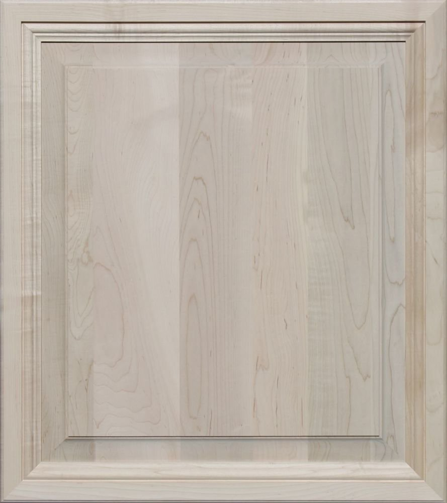 Unfinished Maple, Mitered Raised Panel Cabinet Door by Kendor, 27H x 24W