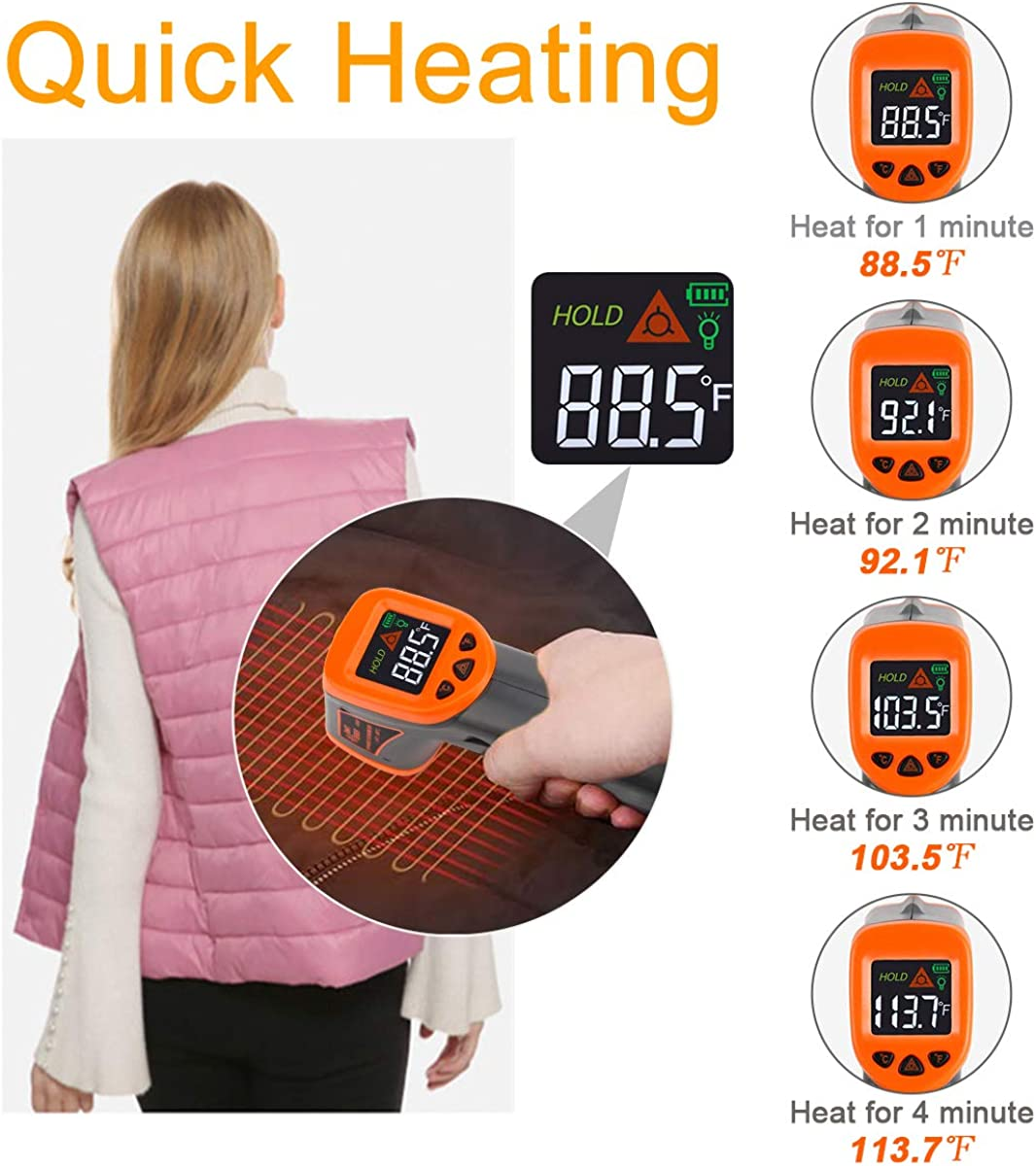 Heated Vest Women Warming Heated Vest with Quick Heating Washable No Battery