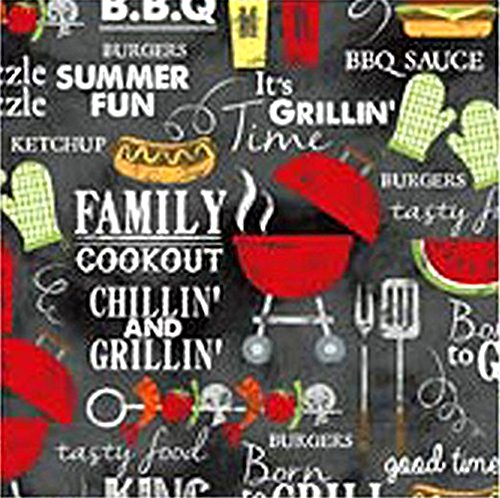 3 Piece Picnic Table Covers - Grill King (Picnic Table Printed)