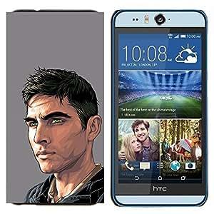YiPhone /// Prima de resorte delgada de la cubierta del caso de Shell Armor - Hombre Amigo Pintura Arte Hermoso - HTC Desire Eye M910x