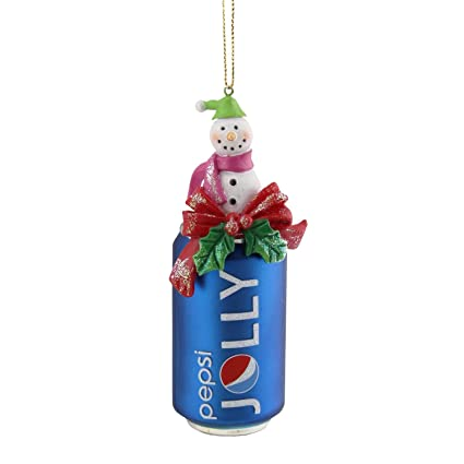 """Northlight Jolly Pepsi Can with Snowman Topper Decorative Glass Christmas  Ornament, 4.75"""", ... - Amazon.com: Northlight Jolly Pepsi Can With Snowman Topper"""
