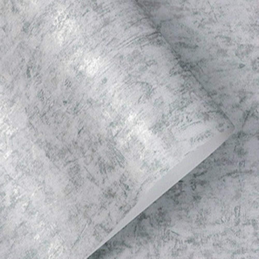 LAGEDOUDING Vintage Color s/ólido Plata//Oro Papel de Pared Liso Negro Gris Verde Papel Pintado Simple Rollo Dormitorio no Tejido Sala de Estar P03601,10mx53cm