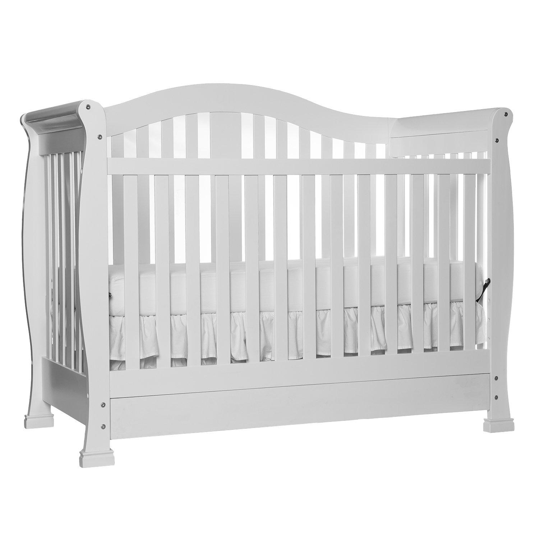 Amazon.com : Dream On Me Addison Crib, White : Convertible Cribs : Baby