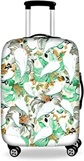Luggage Housse de Protection pour Valise avec Fermeture Éclair Gris & Vert