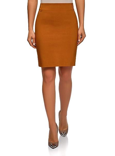 1ac29e3ad2 oodji Ultra Mujer Elegante Falda de Tubo Stretch Recta de Vestir   Amazon.es  Ropa y accesorios