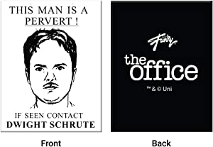 JUST FUNKY The Office Dwight Schrute - Dishwasher Magnet (Pack of 3)- Toughest Magnet for Boards/Lockers/Cars/Refrigerator Auto Magnet
