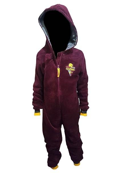 Primark Home - Pijama de una pieza - para niño rojo granate 9-10 Años