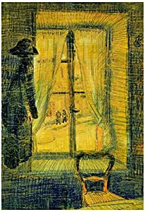 Vincent Van Gogh Window in the Bataille Restaurant Art Print Poster 13 x 19in with Poster Hanger
