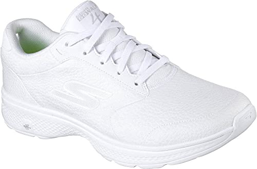 Zapatillas para andar de Skechers Go Walk 4, con cordones, para hombre, Blanco (Blanco), 9,5 D(M) US: Amazon.es: Zapatos y complementos