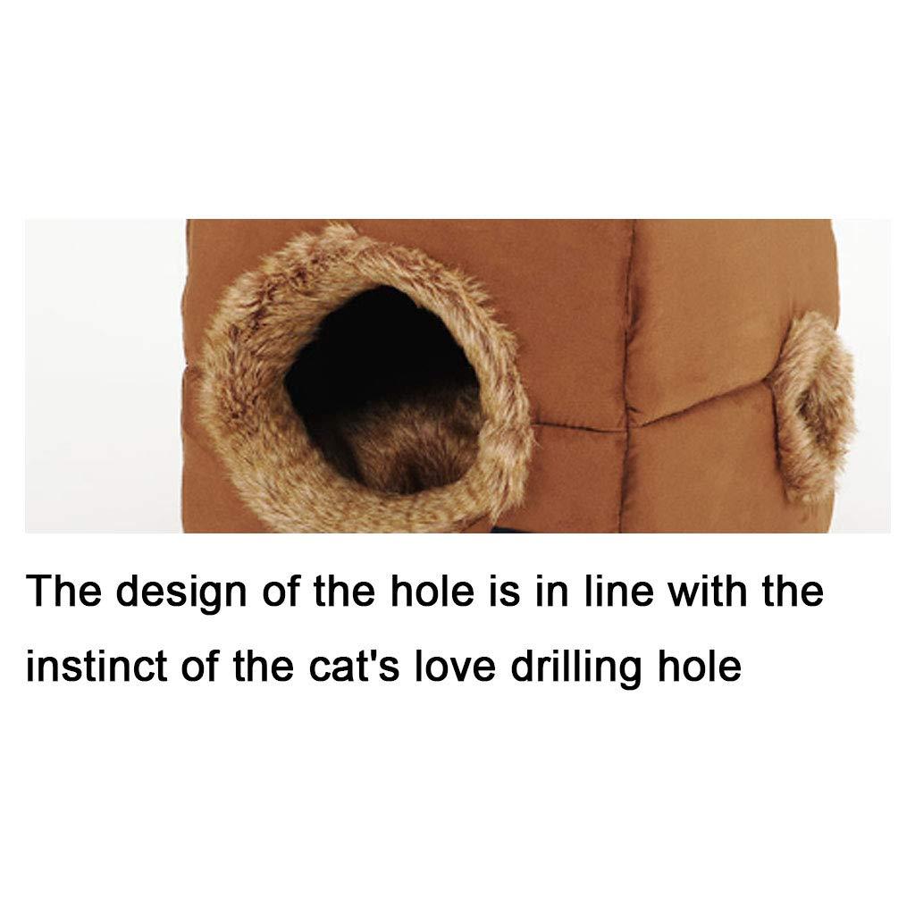 Xiuyun Cestello per Animali Domestici Cat Hole e Dog Bed Bed Bed per Quattro Stagioni Divano Antiscivolo (colore   Marronee, Dimensioni   S.) 2186cd