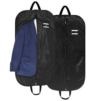 2 x Kleiderh/ülle Kleiderschutzh/ülle Kleidersack schwarz 100 x 60 cm