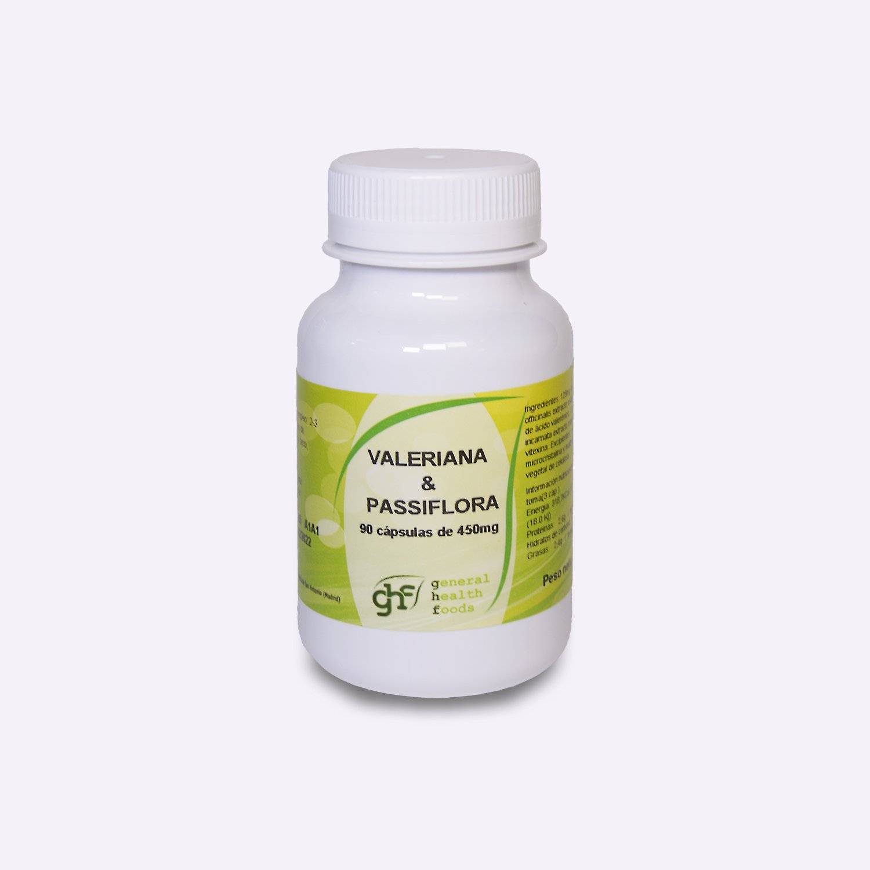 GHF - GHF Valeriana y Pasiflora 90 cápsulas 450 mg: Amazon.es: Salud y cuidado personal