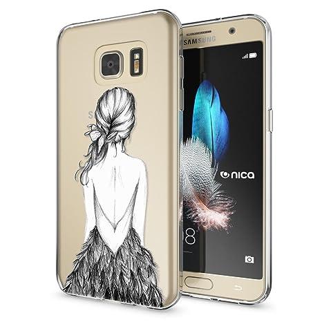 NALIA Funda Carcasa Compatible con Samsung Galaxy S7, Motivo Design Movil Protectora Ultra-Fina Silicona Cubierta, Goma Gel Estuche Telefono Bumper ...