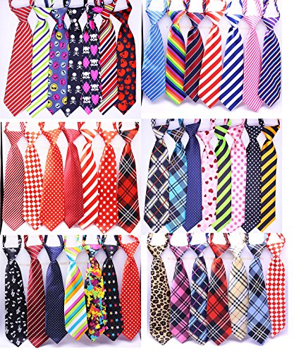 Yagopet 30pcs Large Dog Ties Mix 30 Colors Large Ties Adjustable for Large Dogs Pet Collars Dog Grooming Products Dog Accessories Cute Gift