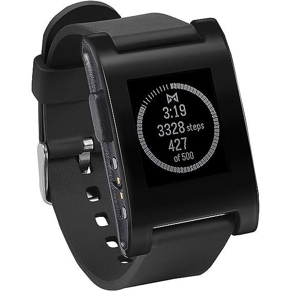 Pebble Smartwatch Black (Renewed)