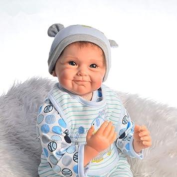 HOOMAI Bambole Reborn Maschio 55cm Baby Doll Girl realistica