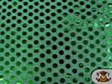 """Sequin Big Dots Green Fabric / 44"""" Wide / Sold By the Yard"""