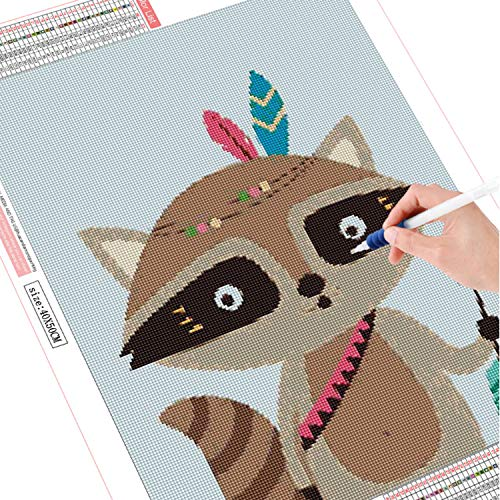 ANMUXI Square Drill 5D Diamond Painting Kits Full Drills 50X70CM Civet Cat Bow Arrow Animals Cartoon Paint with Diamonds DIY Mosaic Art for Stress-Relief & Home Decor