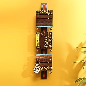Amazon.com: ExclusiveLane \'Brass, Wood & Colours\' Madhubani Hand ...